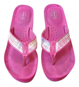 Coach Summer Wedge Casual Platform Pink Sandals