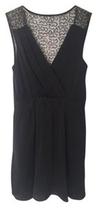 BCBGeneration short dress Black V Sequin Satin Bcbg on Tradesy