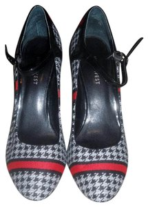 Nine West Red Stripe Modern Houndstooth Pumps