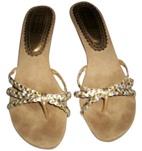 Arizona silver and gold Sandals
