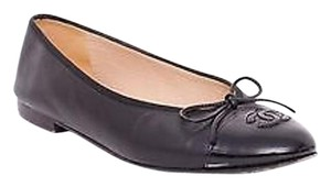 Chanel Classic Leather Black Flats