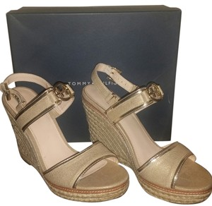 Tommy Hilfiger Gold Wedges