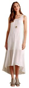 White Maxi Dress by Anthropologie Elegant Simple
