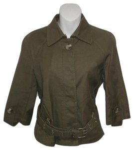 Isaac Mizrahi Military Belted Cotton Military Jacket