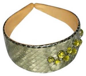 Other Ted Rossi NYC Metallic Python Headband
