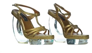 Fernando Pires gold Sandals