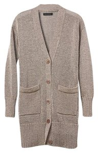 Banana Republic Metallic Relaxed Fit Boyfriend Versitile Cardigan