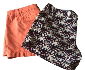 Merona 2 Pairs Of Size 6 Summertime Buy Them Mini/Short Shorts Multi and peach/orange