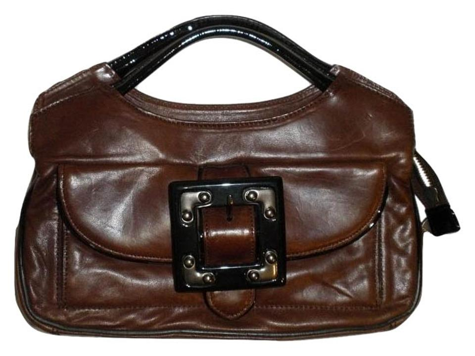 Tracy Reese Brown Handbag New With Dust Bag Leather Satchel
