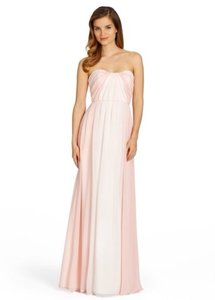 Jim Hjelm Occasions White/ Blush Pink Dress