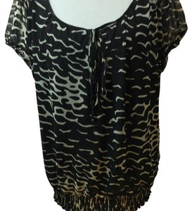 Nicole Miller Top Black & beige