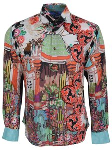 Robert Graham Shirt Men's Sport Shirt Sport Shirt Button Down Shirt Multi-color