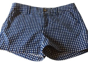 Merona Polka Dots Size 6 Embroidered Mini/Short Shorts Blue and white