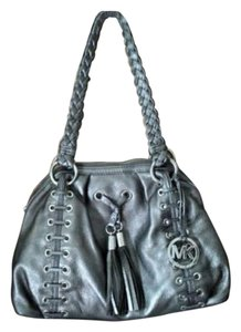 Michael Kors Tassels Metallic Silver Shoulder Bag