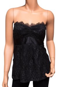 Nanette Lepore Tube Strapless Lace Top Black