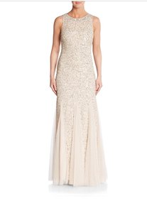 Aidan Mattox Gold Aidan Mattox Sequined Gown Dress