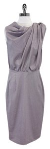 Byron Lars Beauty Mark Lavender Embellished Boat Dress