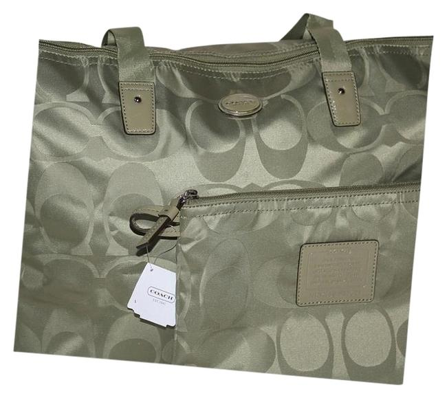 Item - 2 Piece Rare Sold Out Sage Nylon Weekend/Travel Bag