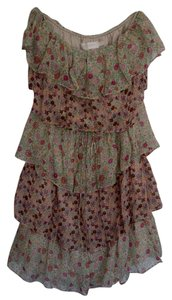 MM Couture short dress Multi-color florals Floral Mini Strapless on Tradesy