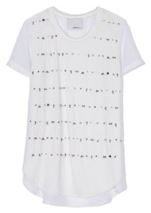 3.1 Phillip Lim Beaded Silk Top White