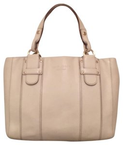 Kate Spade Leather Tote Handbag Satchel in Ivory (White)