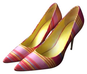 Nine West Pink and yellow Pumps