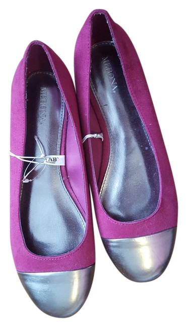 Item - Magenta and Silver Cap Toe Target Purple Flats Size US 9 Regular (M, B)