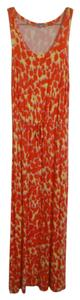 orange, red, yellow, white, multi Maxi Dress by Gap