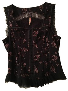 Free People #corset #fall Top Black Multi Print