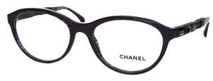 Chanel Chanel Black Sparkle Frame with Black Crystals Eyeglasses