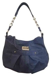 Kenneth Cole Reaction Purse Chain Strap Chain Tote in blue
