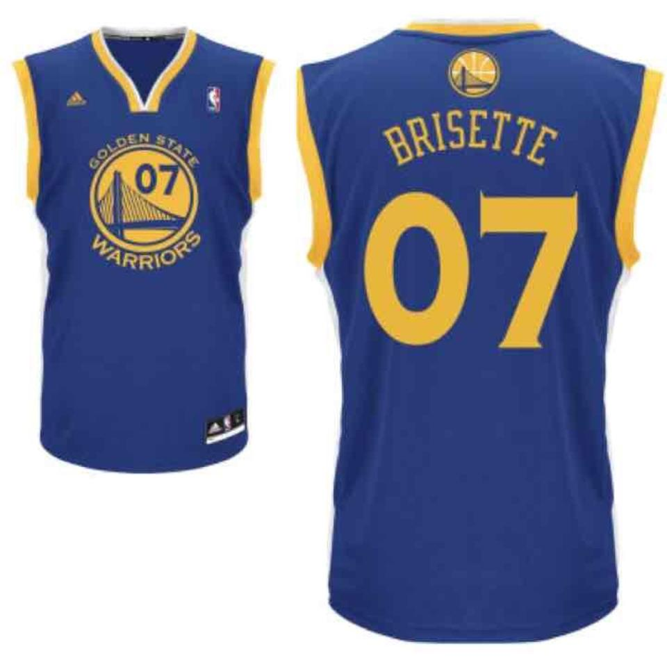 sale retailer 1cc9c eabbb adidas Blue Gold Yellow White Jersey Golden State Warriors Custom  Activewear Top Size OS (one size) 43% off retail