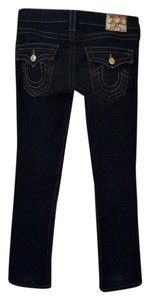 True Religion 25 Billy Straight Leg Jeans-Dark Rinse