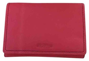 Fossil Pink Leather Snap Wallet