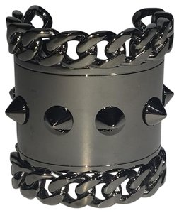 Givenchy Gun Metal Chain and Stud Cuff