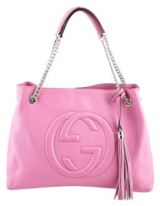 Gucci Leather Pebbled Shoulder Bag