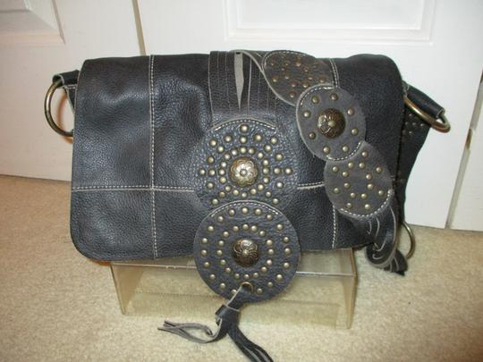 fina Firenze Leather Studded Hobo Bag