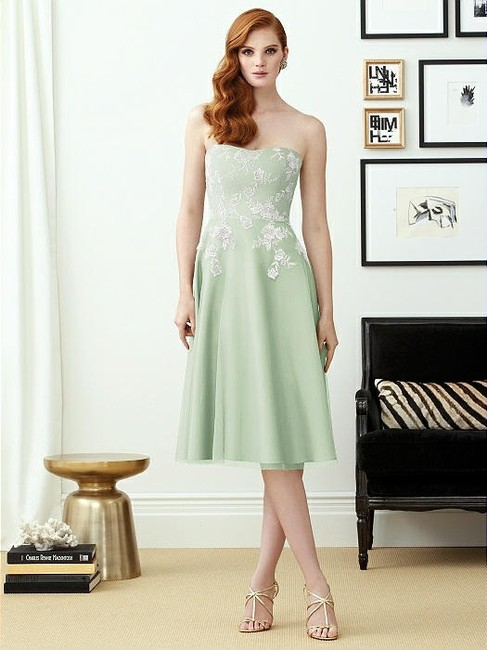 Item - Blush Pink with Silverlight Embroidery Tulle 2948 Feminine Bridesmaid/Mob Dress Size 6 (S)