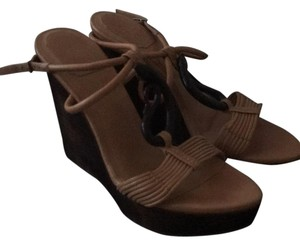 Dior Brown and tan Wedges