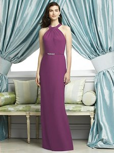 Dessy Radiant Orchid Crepe 2937 Modern Bridesmaid/Mob Dress Size 8 (M)