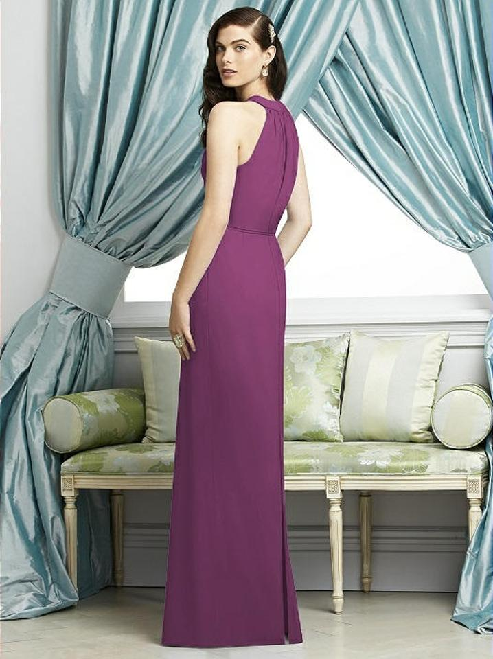 Dessy Radiant Orchid Crepe 2937 Modern Bridesmaid/Mob Dress Size 8 ...