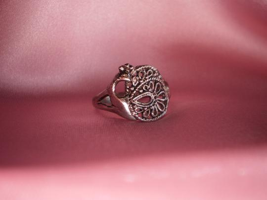 Unknown Silvertone peacock ring