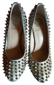 Vince Camuto Prom Silver Pumps