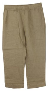 Garnet Hill Summer Relaxed Relaxed Pants Tan