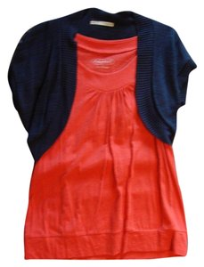Maurices Top Coral & Navy