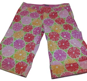 Lilly Pulitzer Capris Lime / pink / orange