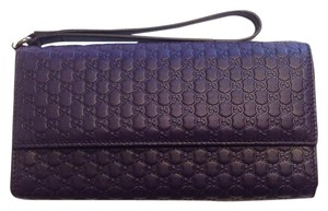 Gucci Gucci 309651 Micro GG Guccissima 4 Piece Leather Travel Wristlet Wallet Case