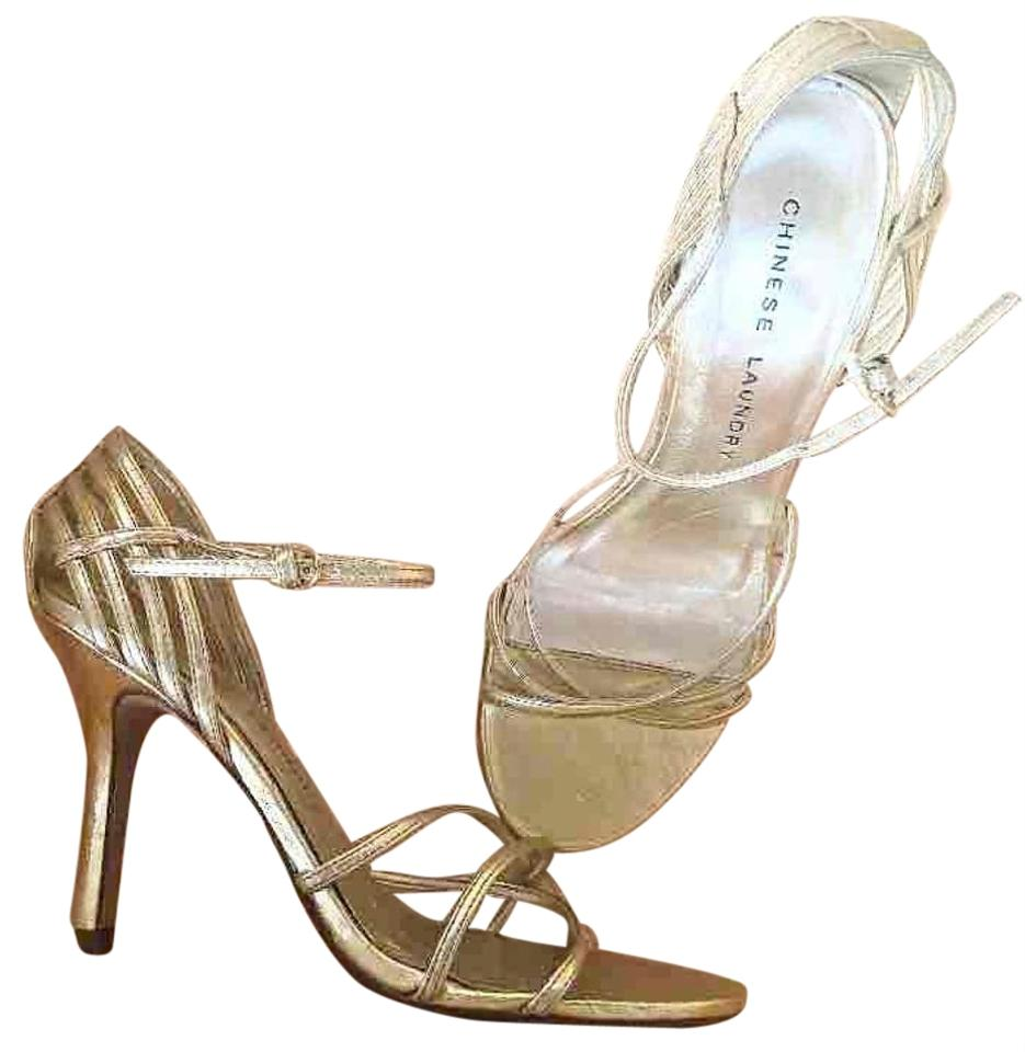 4a9d403c51b Chinese Laundry Gold Metallic Sandal Formal Shoes Size US 7.5 ...