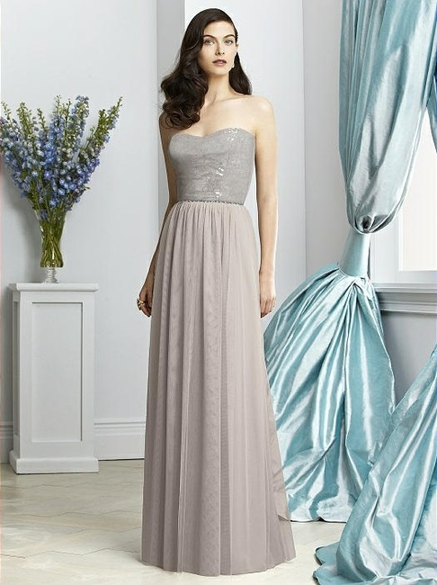 Item - Taupe Tulle 2925 Formal Bridesmaid/Mob Dress Size 10 (M)