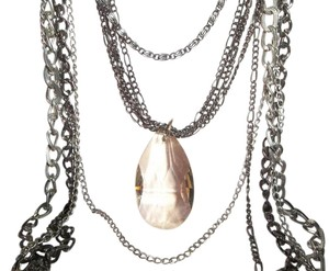 CJ Large Crystal Necklace, Lots of Chains